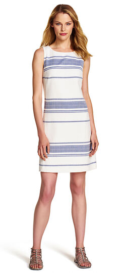Tweed Stripe A-Line Dress