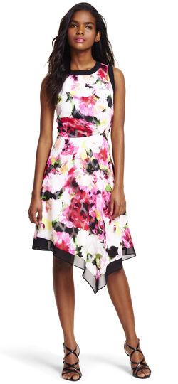 Sleeveless Asymmetrical Drape Dress