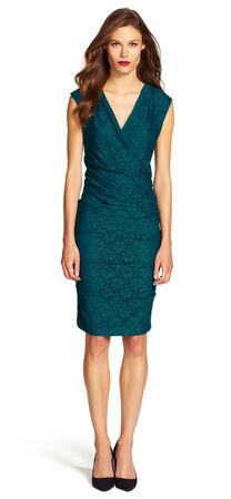 Lace Side Pleated Sheath Dress