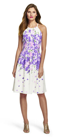 Petite Garden Party Floral Fit and Flare Dress