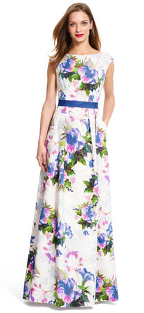 Floral Matelasse Gown