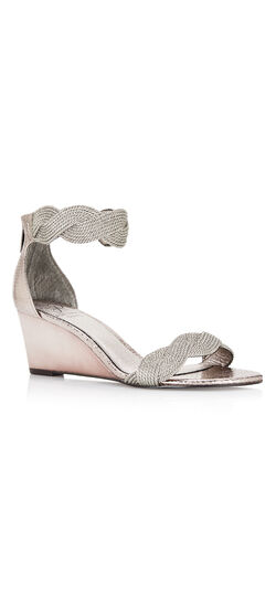 Adelaide Metallic Braided Wedge