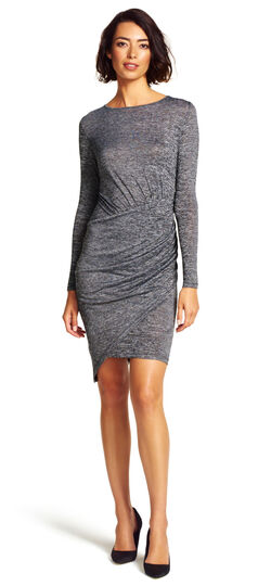 Boatneck Long Sleeve Knit Dress