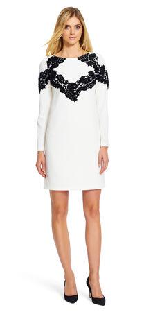 Lace Applique Shift Dress