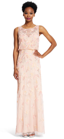 Sleeveless Beaded Gown Adrianna Papell