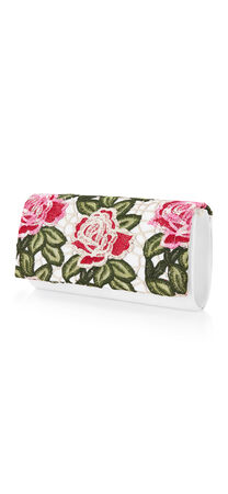 Spencer Floral Applique Clutch