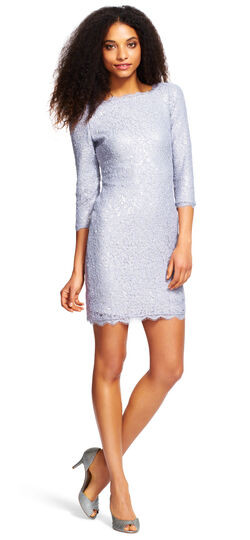 Lace and Sequin Cocktail Dress