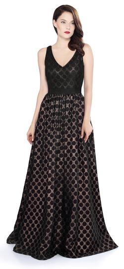 Modern Vintage Evening Dresses and Formal Evening Gowns Metallic Jacquard Ballgown $72.00 AT vintagedancer.com