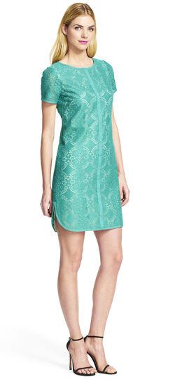 Plus Size Medallion Lace Shift Dress