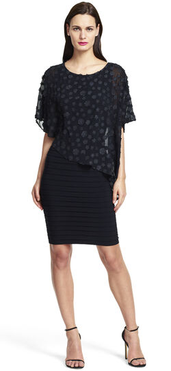 Dotted Asymmetrical Banded Dress