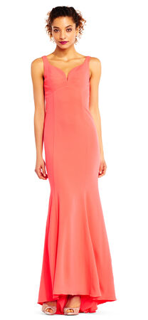 Sleeveless Mermaid Dress with Cutout Back