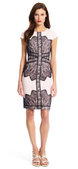 Cap Sleeve Lace Sheath Dress