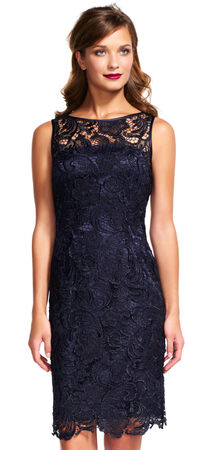 Illusion Neck Lace Sheath Dress