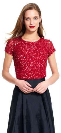 Sequin Mesh Top
