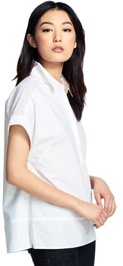 Oversized Shirt with Sheer Yoke
