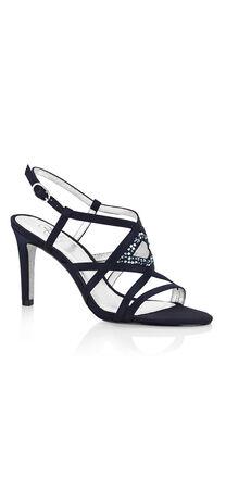 Ace Satin Strap Jeweled Sandal
