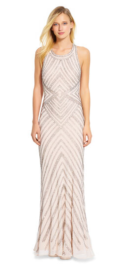 Beaded Halter Gown $157.05 AT vintagedancer.com