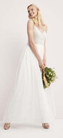 Sleeveless Beaded Tulle Gown