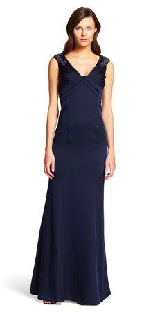 Mermaid V-neck gown