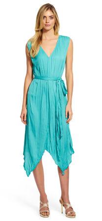 V-Neck Silky Dress
