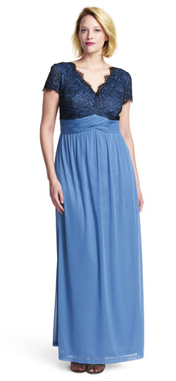 Scalloped Lace Bodice Gown