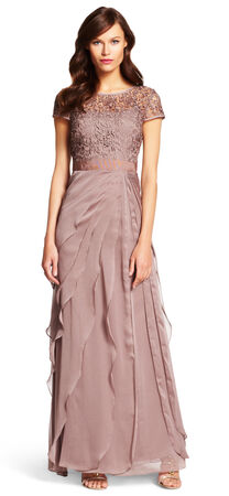 Champagne And Gold Bridesmaid Dresses Adrianna Papell