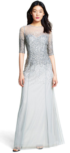 Beaded Illusion Gown $280.00 AT vintagedancer.com