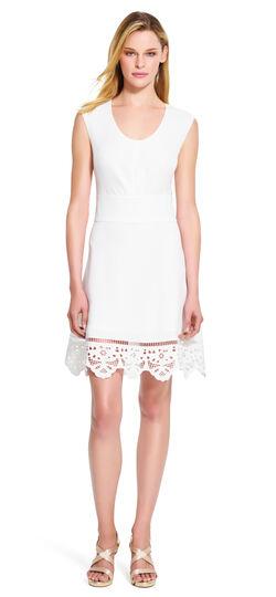 V-neck Dress with Detailed Hemline