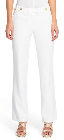 Skinny Pants with Tabbed Waistband