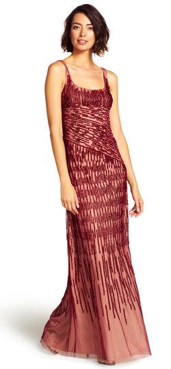 Spiral Beaded Mermaid Gown