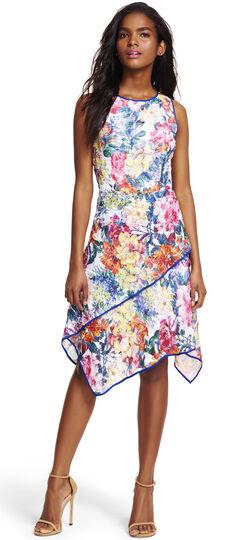 Plus Size Asymmetrical Twirl Hem Fit and Flare Dress