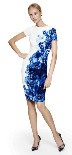 Floral Textured Sheath Dress
