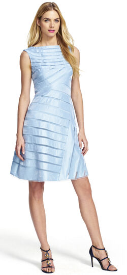 Shimmer Dress with Diagonal Bands