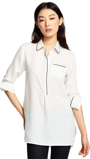 Tunic Top with Contrast Piping