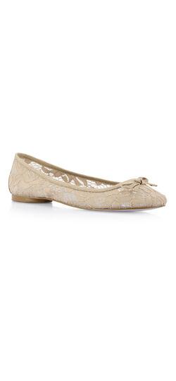 Sage lace ballet flat