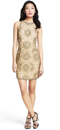 Short Floral Beaded Dress
