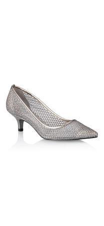 Lois Glittery Mesh Kitten Heel