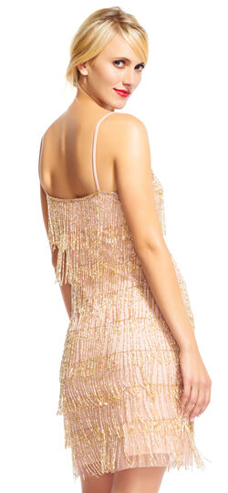 Great Gatsby Dresses for Sale Fringed Cocktail Dress $179.40 AT vintagedancer.com