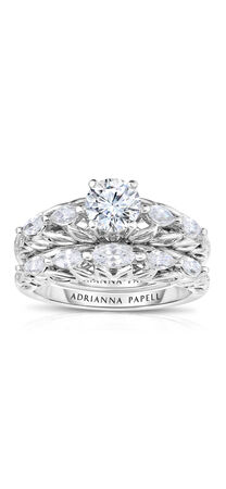 Diamond Bridal Set in 14K Two-Tone Gold