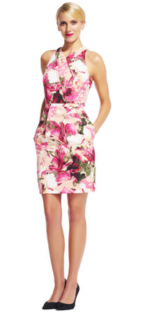 Floral Halter Dress with Criss Cross Bodice