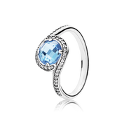 Radiant Embellishment, Sky-Blue Crystal & Clear CZ