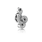 Sweet Music Treble Clef, Clear CZ