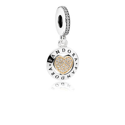 PANDORA Signature Heart, Clear CZ