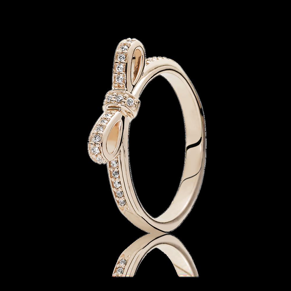 sparkling bow ring pandora rose clear cz pandora jewel. Black Bedroom Furniture Sets. Home Design Ideas