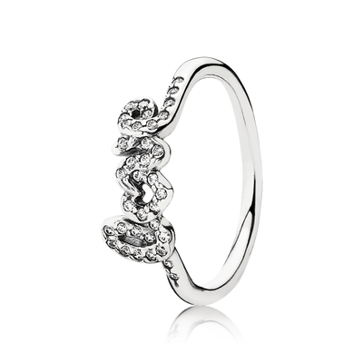 Signature Of Love Ring, Clear CZ