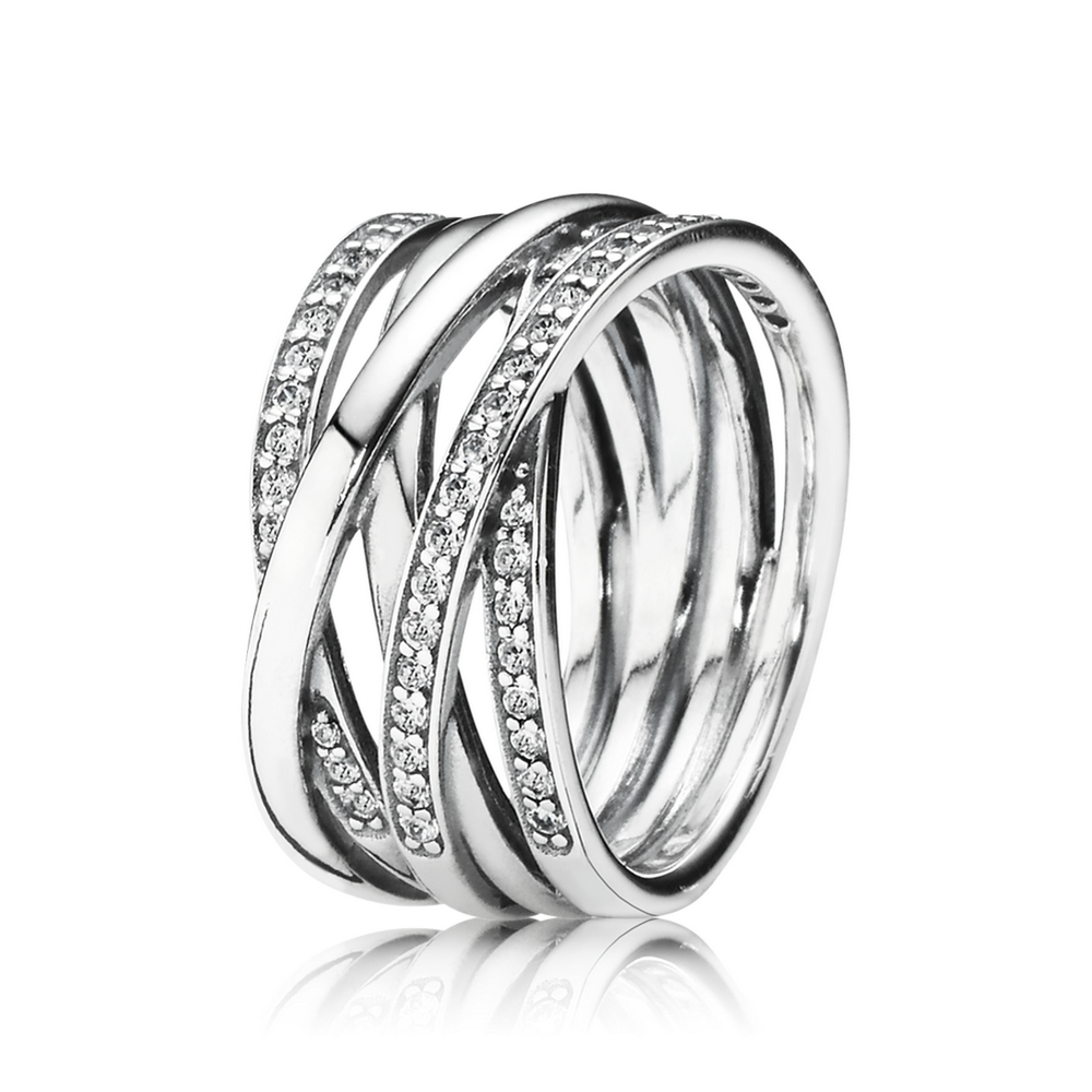 entwined ring clear cz pandora jewelry us