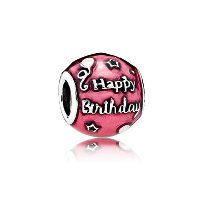 Birthday Celebration, Transparent Cerise Enamel