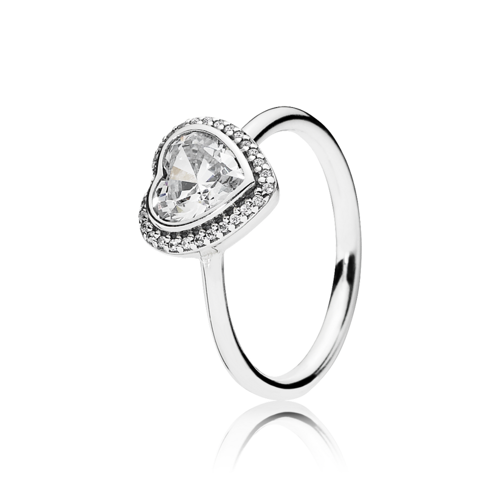 Sparkling Love Heart Ring Clear Cz Pandora Jewelry Us