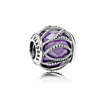 Intertwining Radiance, Purple & Clear CZ
