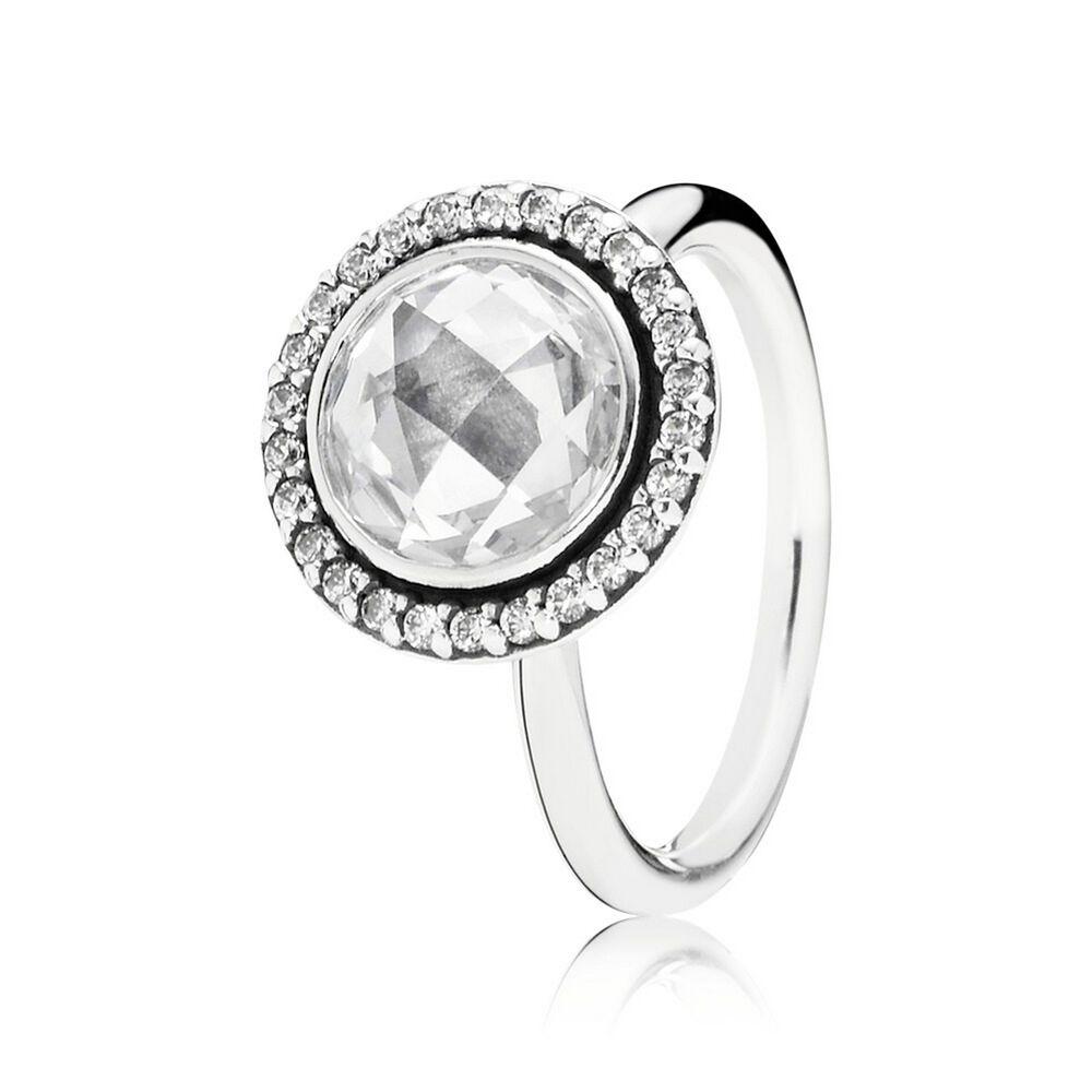 Pandora Silver Black Cubic Zirconia Ring